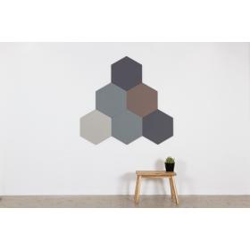 Design prikbord zeshoek - kleurcode 2162 - donkergrijs