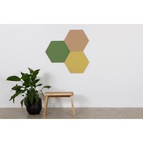 Design prikbord zeshoek - kleurcode 2209 - zwart