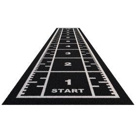 Sprinttrack Premium (kunstgras) - 10 x 2 m - Zwart