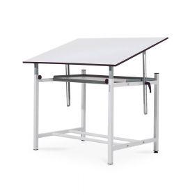 Professionele tekentafel met legplank - Verstelbaar - Blad 100x150 cm