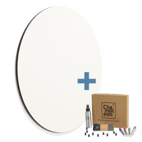 rond whiteboard zonder rand wit 118cm