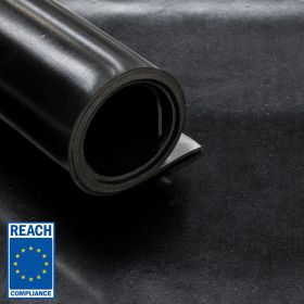 rubberplaat REACH conform NBR rubber met 1 inlage