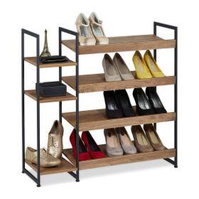 Schoenenrek hout / staal 15 paar schoenen 4 etages