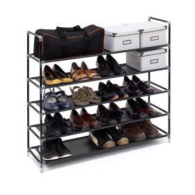 relaxdays schoenenrek voor 20 paar zwart