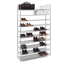 relaxdays schoenenrek grijs 175 cm