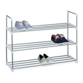 relaxdays metalen schoenenrek 12 paar schoenen