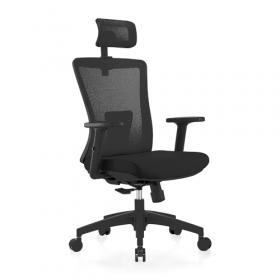 ergonomische bureaustoel zwart mesh