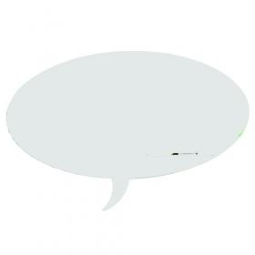 Skin whiteboard - Tekstballon - Wit - 75x115 cm