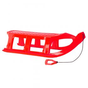 Kunststof slee - 109x40 cm - Rood
