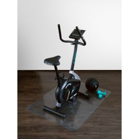 onderlegmat voor fitnessapparatuur transparant 90x120 cm