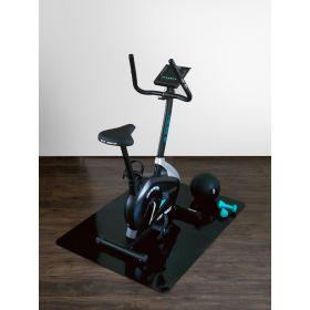onderlegmat voor fitnessapparatuur zwart 90x120 cm