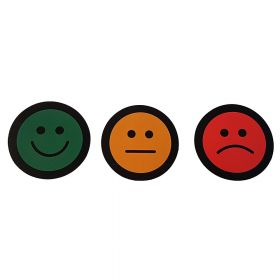 Impressiemagneten – Smiley pakket – Rood, Groen, Oranje –  Ø 50 mm – set van 15 stuks