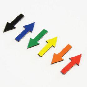 Magnetische symbolen - Pijl - 1 cm - Oranje - vel van 35 stuks