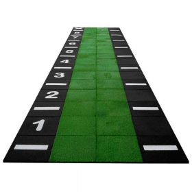 Sprinttrack combi rubber tegels / kunstgras (modulair) - 9x2 meter - 18 m2