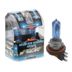Xenonlooklampen Halogeen 'Blue Ice Racing' H15 (4200K) 12V/55-15W, set à 2 stuks ECE-R37
