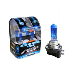Xenonlook lampen Halogeen   'Blue Ice Racing' H8B (4200K) 12V/35W, set à 2 stuks ECE-R37
