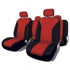 stoelhoesset tuning rode autostoelhoezen