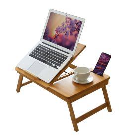 Laptoptafel bamboe - verstelbaar