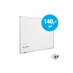 Whiteboard op maat - Emaille - Mat (max. 120x400 cm)