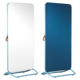 Chameleon Mobile dubbelzijdig whiteboard/prikbord 89 x 192 cm - Wit/Blauw