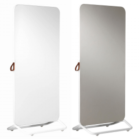 Chameleon Mobile dubbelzijdig whiteboard/prikbord 89 x 192 cm - Wit/Grijs