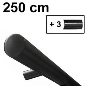 zwart design trapleuning 250 cm