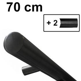 Design trapleuning zwart - 70 cm + 2 houders