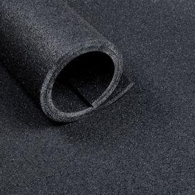Sportvloer mat van 2 m2 (100 x 200 cm) - Dikte 10 mm - Asfaltlook zwart