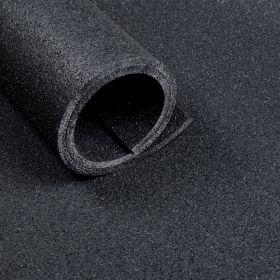 Sportvloer mat van 2,5 m2 (125 x 200 cm) - Dikte 10 mm - Asfaltlook zwart