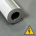 VDE loper / hoogspanningsloper / isolatiemat - 3 mm 30 Kv - Breedte 100 cm - Per strekkende meter - Grijs