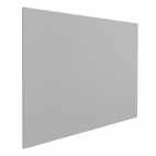 Whiteboard zonder rand - 120x180 cm - Grijs